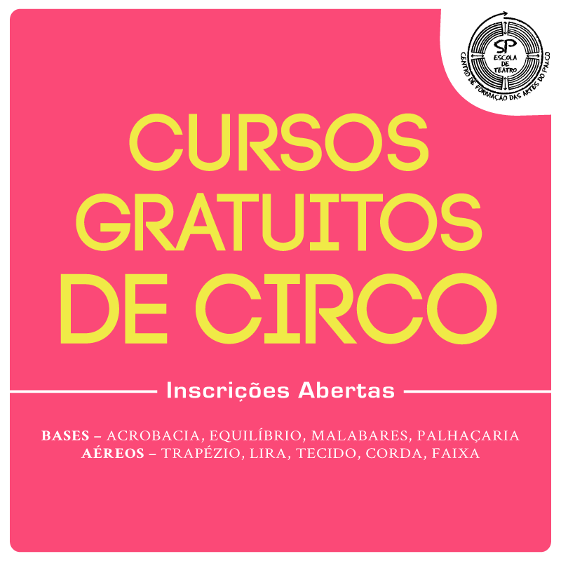 Mais dois cursos de circo da SP Escola de Teatro abrem inscrições