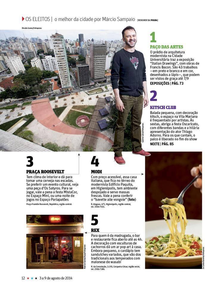 Satyros entre as cinco sugestões de passeios do Guia da Folha