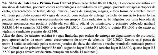 Um prêmio chamado Ivam Cabral