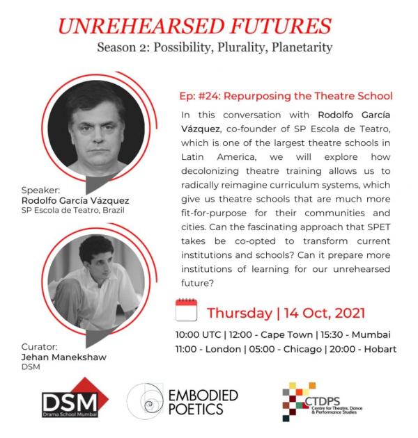SP ESCOLA DE TEATRO NO MUNDO | Redimensionando as escolas de teatro