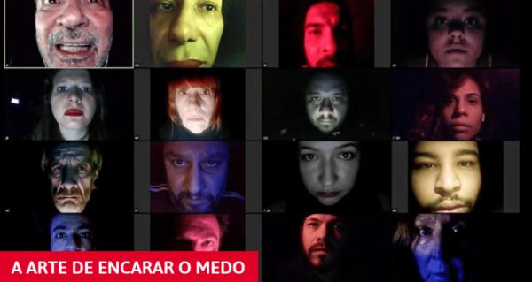 Grupo teatral encena ao vivo obra inspirada em pandemia